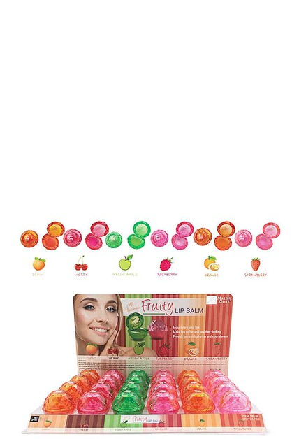ALL NATURAL FRUITY LIP BALM 24 PCS - orangeshine.com