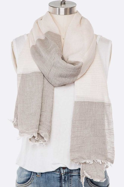 Cotton Mix Stripe Spring Scarf - orangeshine.com