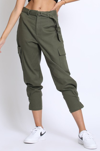 CROPPED CARGO PANTS - orangeshine.com