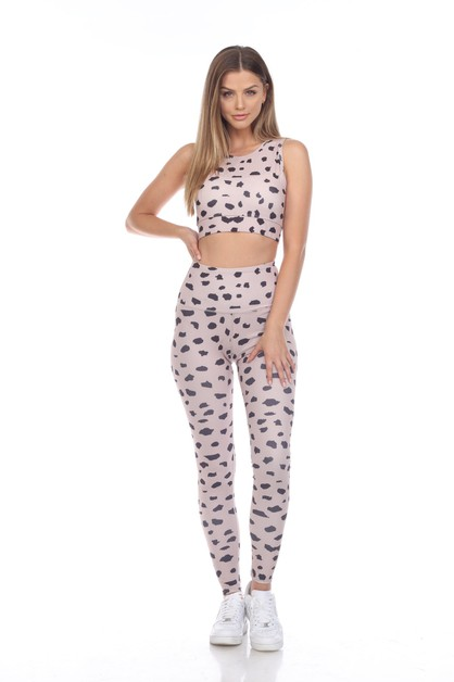 LATÉ IMPRESSION LEGGING SET - orangeshine.com