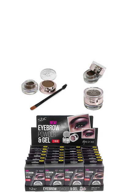 EYEBROW POWDER AND GEL 24 PCS - orangeshine.com