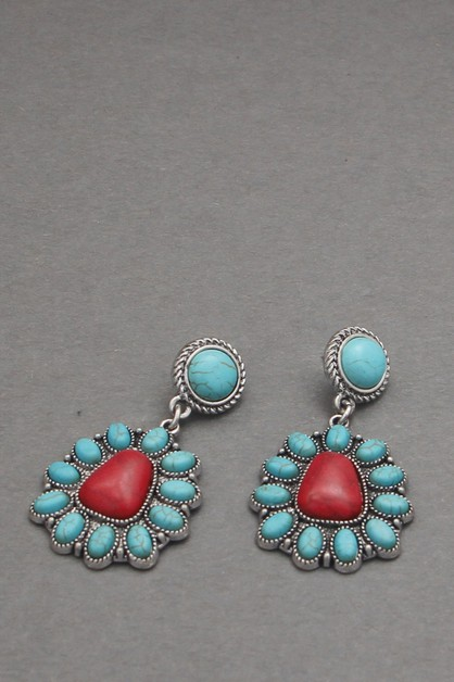 STONE DANGLE EARRING - orangeshine.com