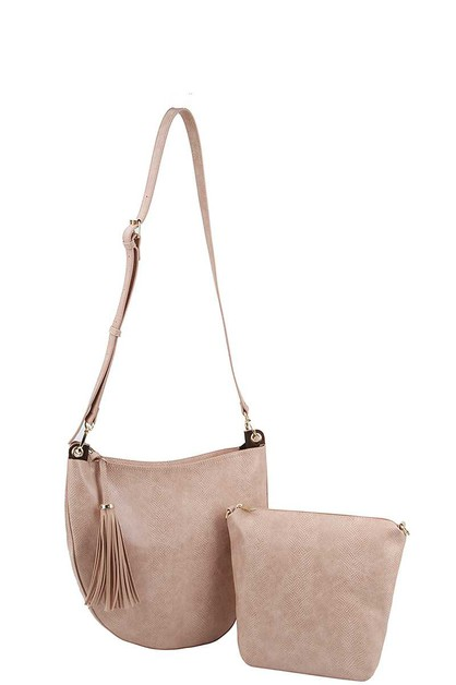 2IN1 TASSEL OVAL CROSSBODY BAG SET - orangeshine.com