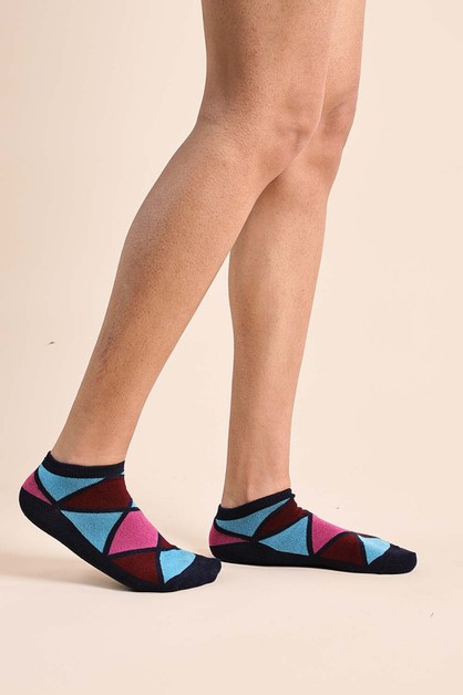 Triangle Ankle Socks - orangeshine.com