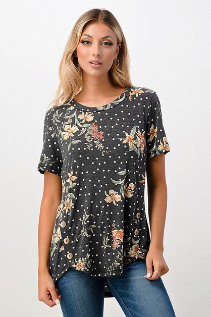 Floral Top - orangeshine.com