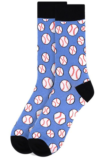 Men Baseball Novelty Socks - orangeshine.com