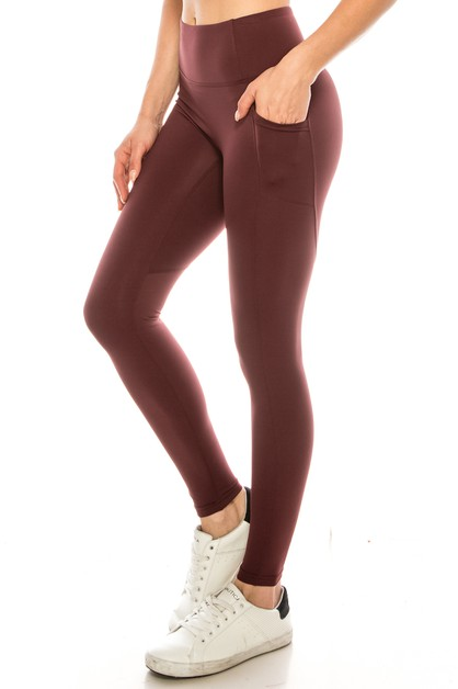 Premium solid active legging - orangeshine.com