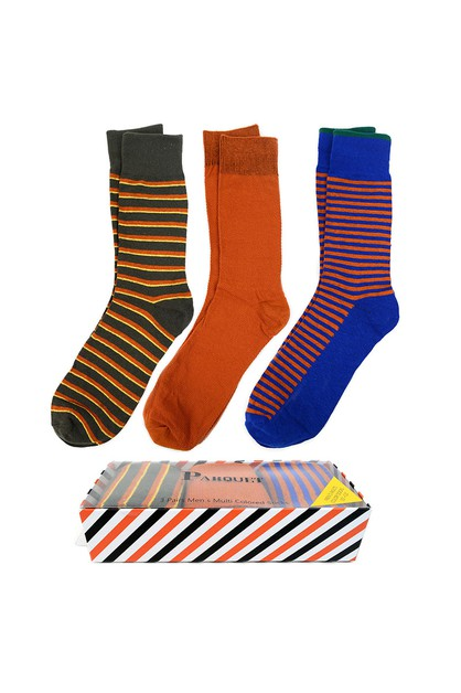 Fancy Multi Colored Socks Striped - orangeshine.com