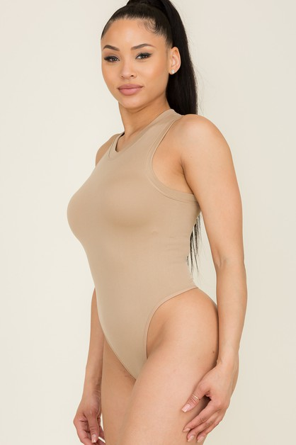 Sexy bodycon solid seamless bodysuit - orangeshine.com