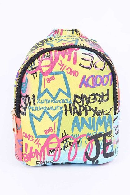 Mini Graffiti Backpack - orangeshine.com