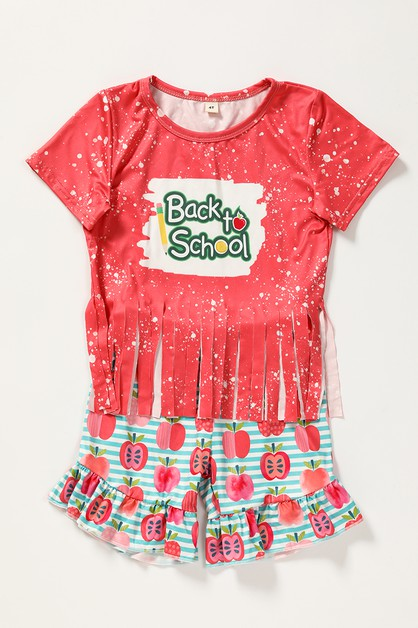 Back to school shorts set - orangeshine.com