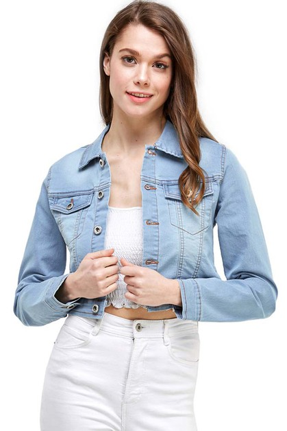 Cropped Jean Jacket - orangeshine.com