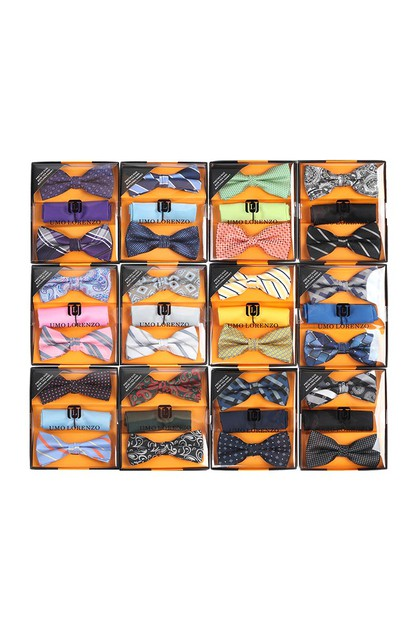 12pc  Assorted Bow Tie and Hanky - orangeshine.com