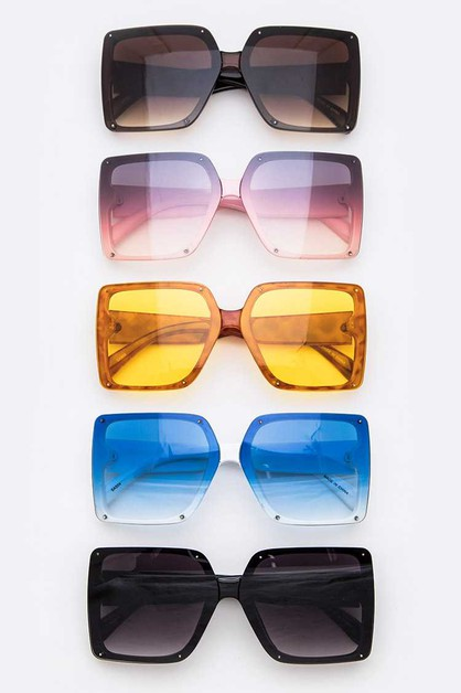Oversize Square Fashion Sunglasses S - orangeshine.com