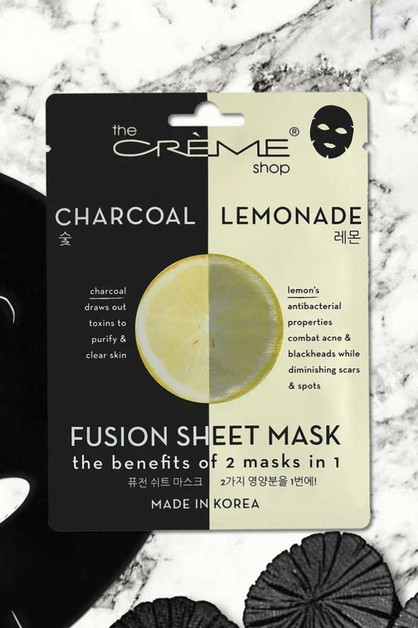 CHARCOAL AND LEMON SHEET FACE MASK - orangeshine.com