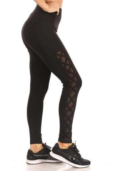 Mesh Cross Sports Leggings Yoga Pant - orangeshine.com