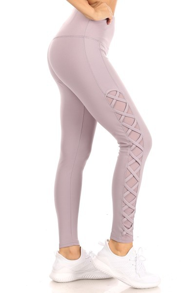 Mesh Cross Sport Leggings Yoga Pants - orangeshine.com