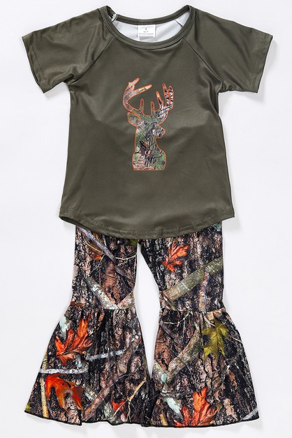 Camouflage hunting bell pants set - orangeshine.com