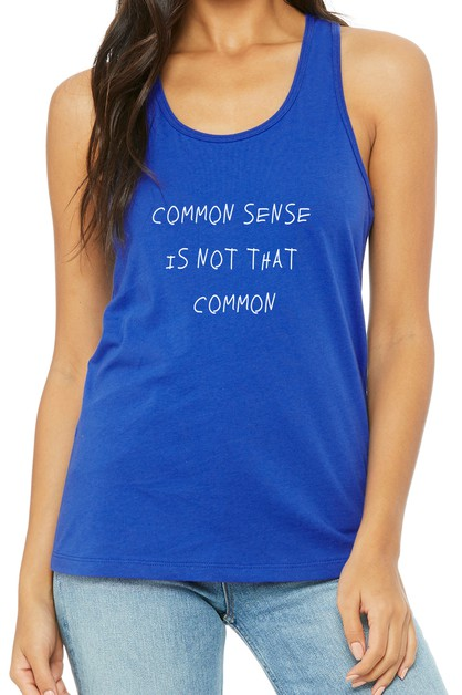 Common Sense Tank Top - orangeshine.com