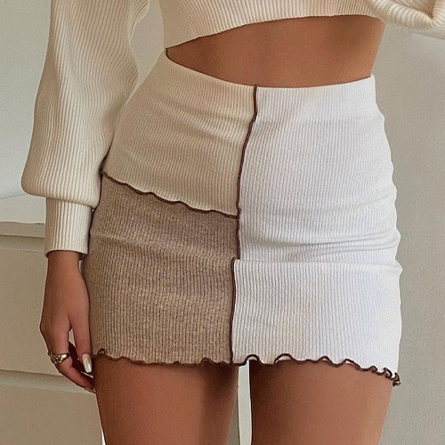 Summer Patchwork Sexy Mini Skirt - orangeshine.com