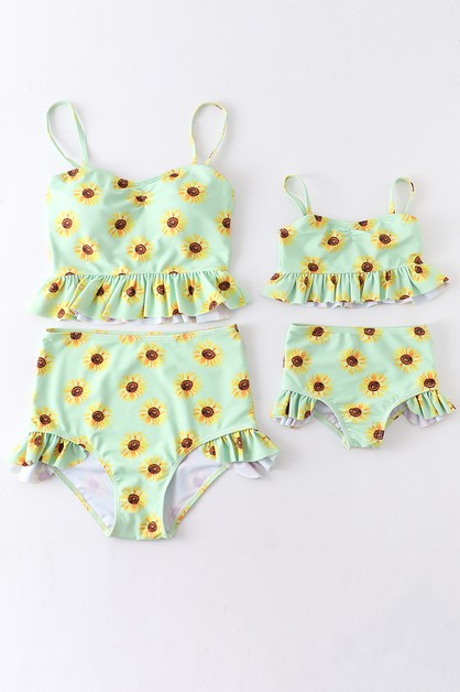 Sunflower ruffle mommy me swim sui - orangeshine.com