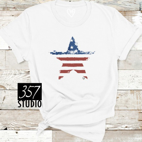 Distressed Flag Star - orangeshine.com