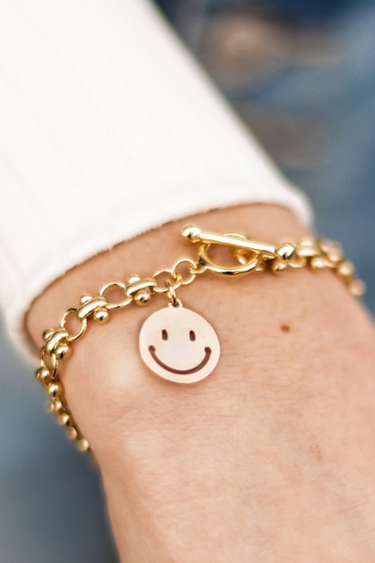 Happy Daze Toggle Chain Bracelet - orangeshine.com
