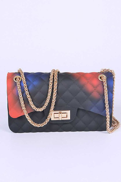 Mix Color Diamond Embossed Jelly Bag - orangeshine.com