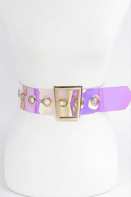 FASHION TRANSPARENT WIDE WAIST BELT - orangeshine.com