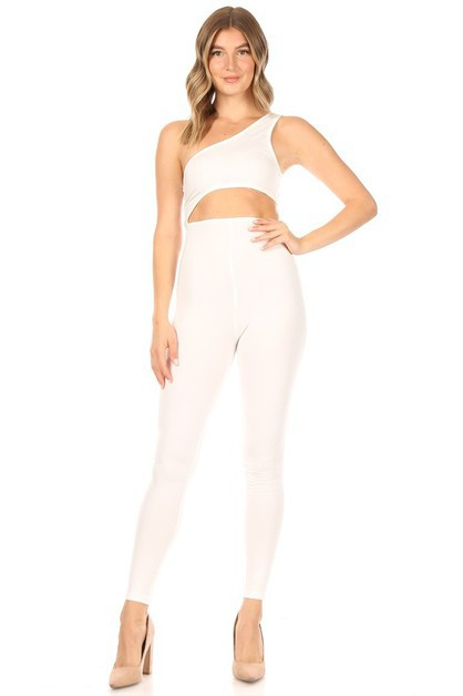 Hollow-out Tight Sport Jumpsuit - orangeshine.com