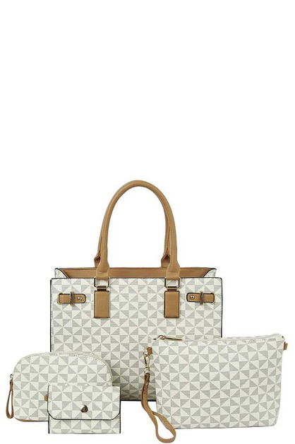 4IN1 CHECKERED TOTE BAG WI BAGS SET - orangeshine.com