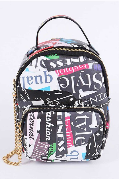 Magazine Graffiti Iconic Backpack - orangeshine.com