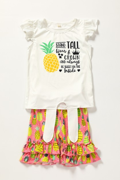 Pineapple shorts set - orangeshine.com