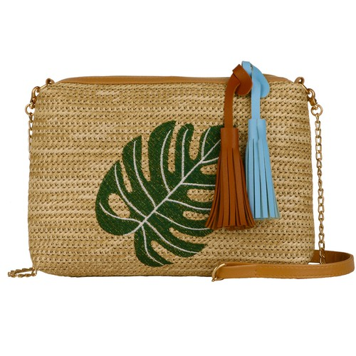Pineapple tassel leaf straw bags - orangeshine.com