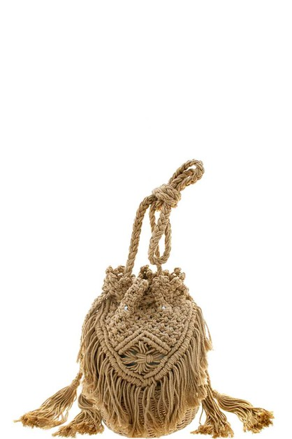 SOFT STRING TASSEL CROSSBODY BAG - orangeshine.com