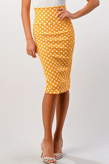 Polka Pencil Skirts - orangeshine.com