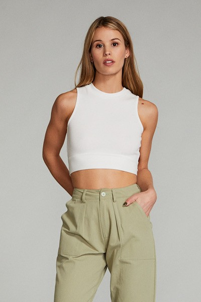 Knotted Cropped Top - orangeshine.com