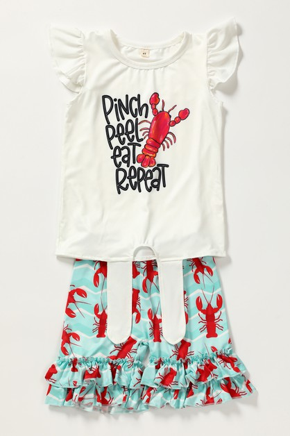 Pinch lobster shorts set - orangeshine.com