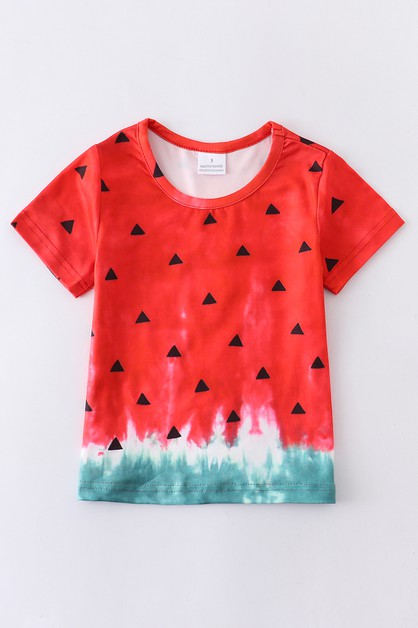 Watermelon tie dye mommy me shirt - orangeshine.com