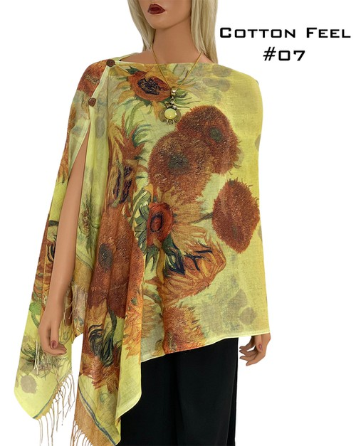 Cotton Touch Shawls with Buttons - orangeshine.com