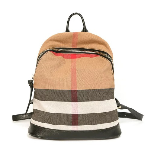 Stylish plaid canvas Backpack - orangeshine.com