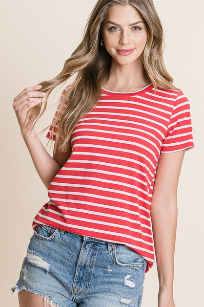 CASUAL STRIPE TEE - orangeshine.com