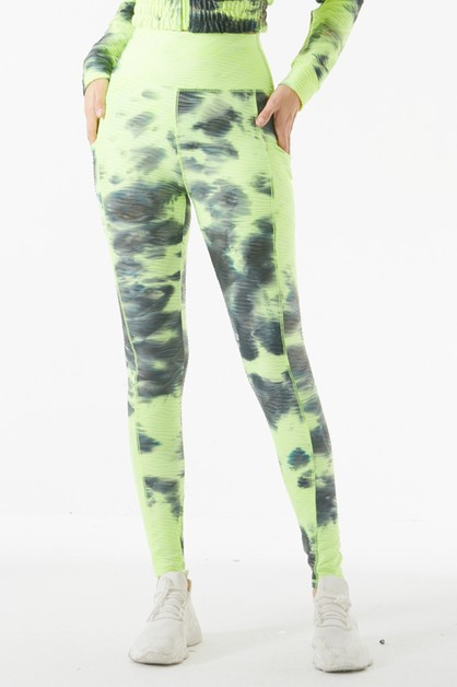 TIE DYE YOGA PANTS - orangeshine.com