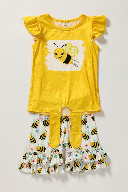 Bee shorts set - orangeshine.com