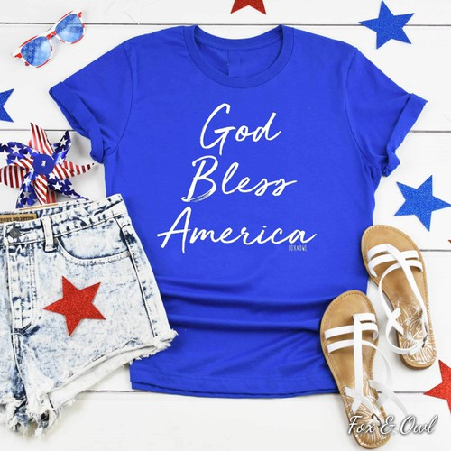God Bless America Blue - orangeshine.com