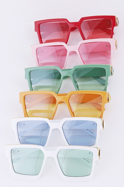 Unisex Iconic Mix Color Sunglasses S - orangeshine.com