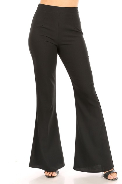 Solid full length pants - orangeshine.com