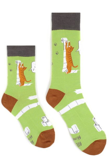 Covid-19 -Toilet Paper Novelty Socks - orangeshine.com