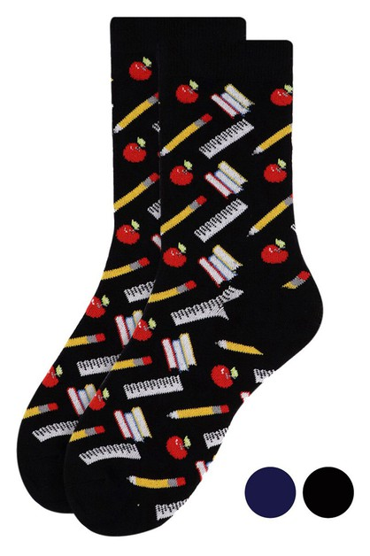 WomeNs School Supplies Novelty SockS - orangeshine.com