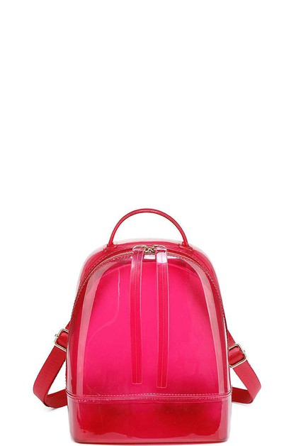 CLEAR JELLY CHIC STYLISH BACKPACK - orangeshine.com